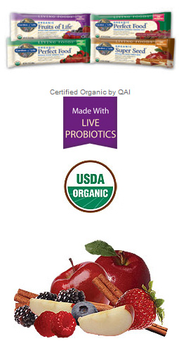 Organic whole food bars fruits of life 64 gram 12 bars for Food bar garden